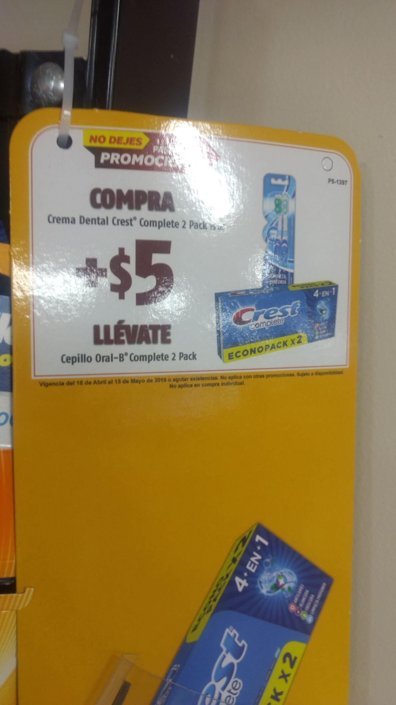 Oxxo: Compra pasta Crest + $5 llévate un paquete de cepillos