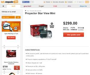 Mequedouno: Proyector Star View Mini $299 + $70 de nvío
