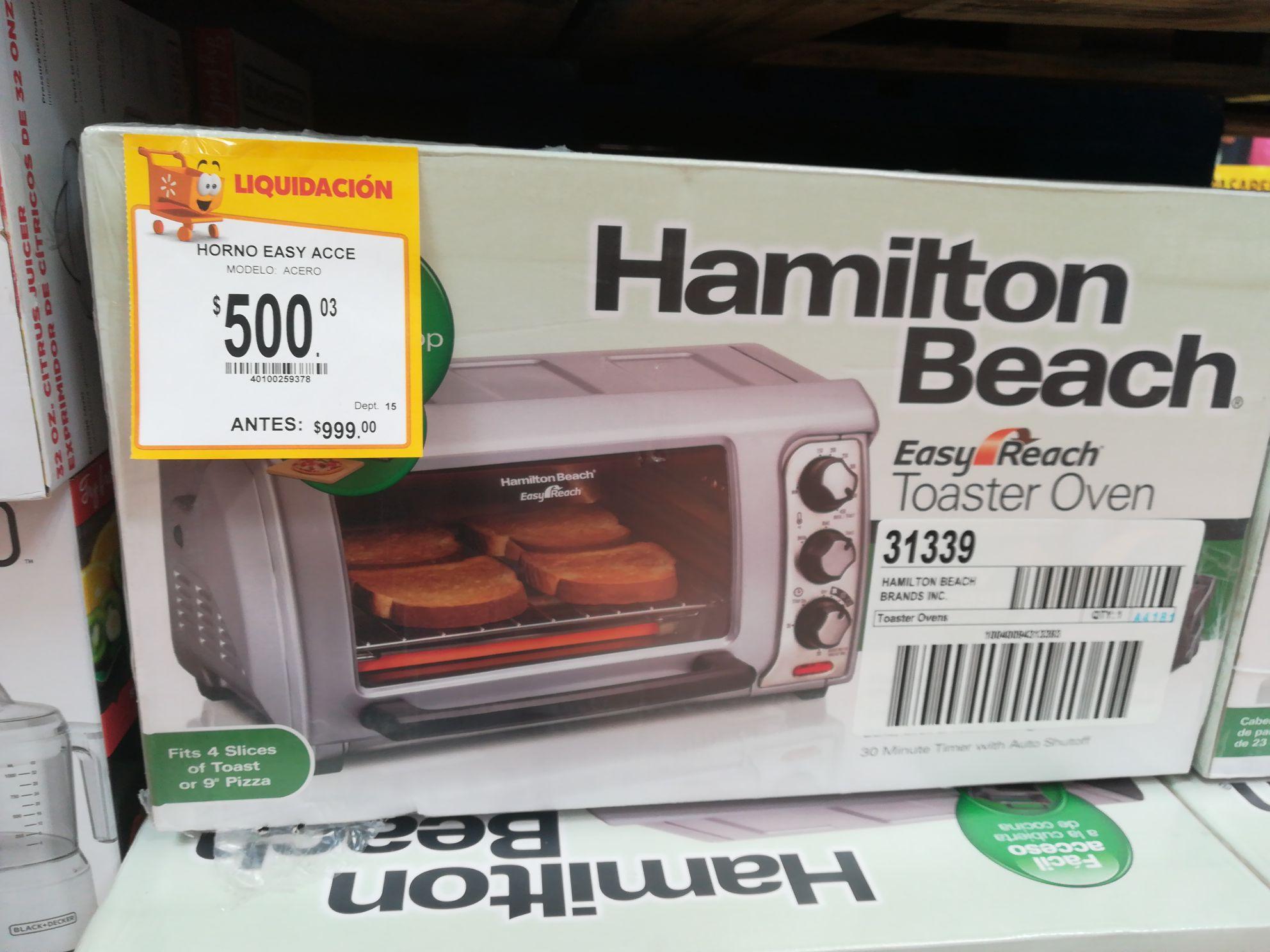 Walmart: Horno eléctrico Hamilton Beach