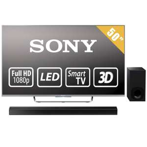 Walmart por internet, Smart TV Full HD Sony KDL-50W800C con teatro en casa HT-CT180