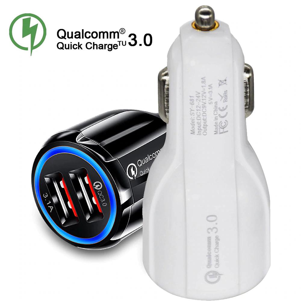 AliExpress: Cargador de coche USB Quick Charge 3.0 y 2.0