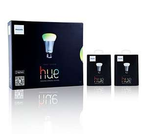 Amazon: Philips Hue Kit de 3 focos + 2 focos extra $3,199 ($2,899 con Banamex)