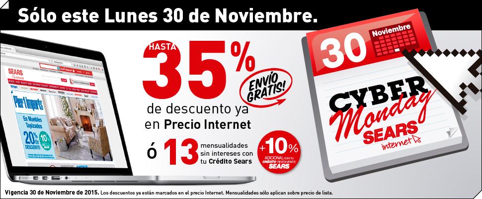 Cyber Monday Sears en línea con descuentos y envío gratis