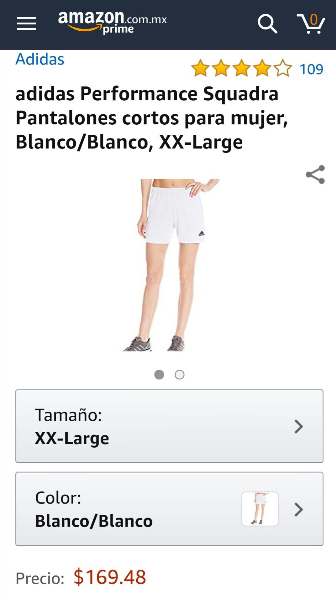 Amazon MX: Short Adidas Performance Squadra