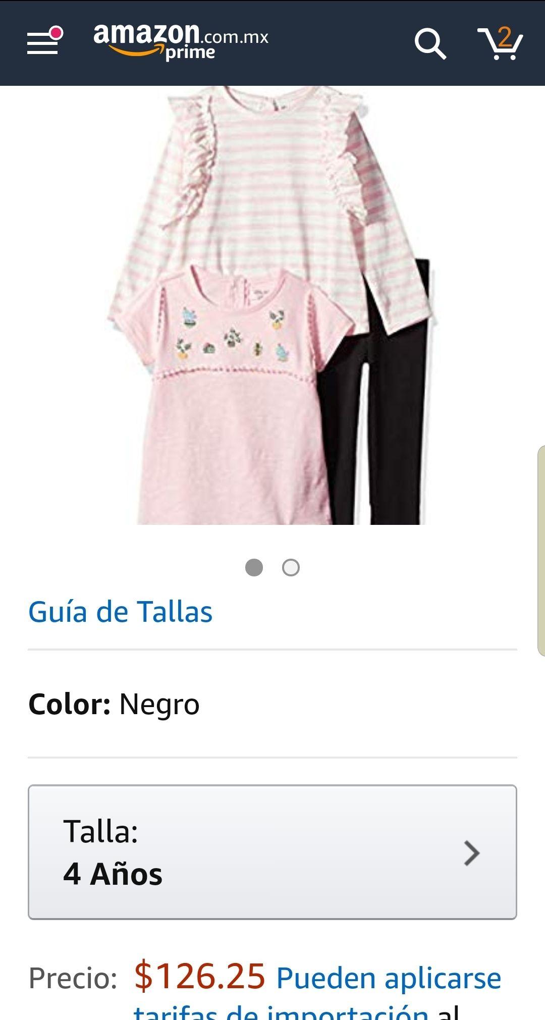 Amazon: conjunto little me talla 4