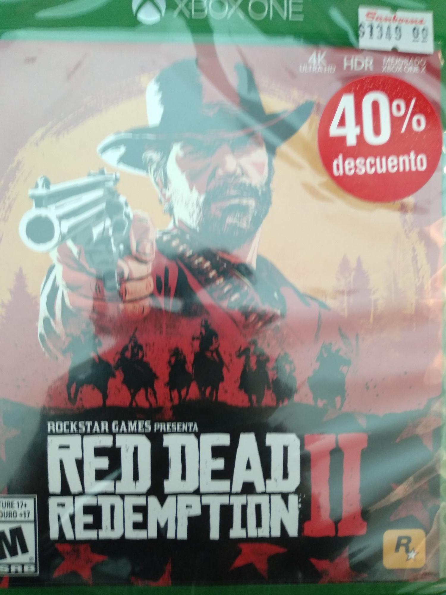 Sanborns: Red Dead Redemption II Xbox One