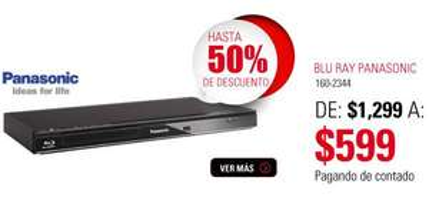 RadioShack: reproductor blu-ray Panasonic $599
