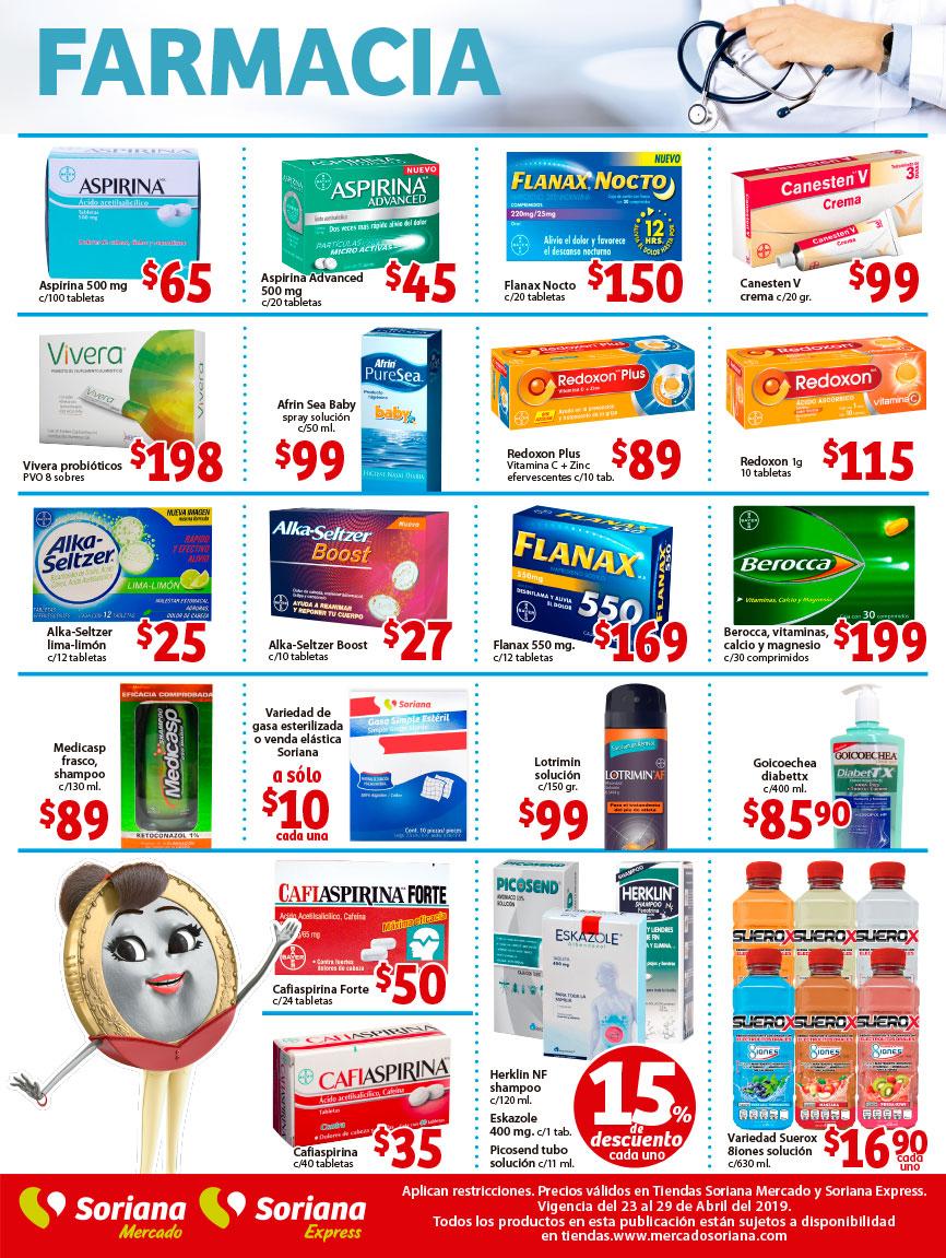 afafbf8bb71e5 Soriana Mercado y Express  Ofertas en Farmacia del Martes 23 al Lunes 29 de  Abril