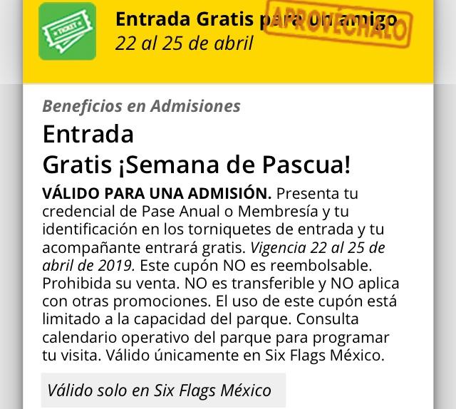 Six Flags: (Los que tienen pase anual ) Pase gratis para un amigo
