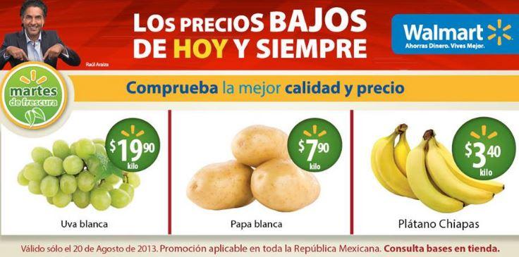 Martes de frescura Walmart agosto 20: plátano $3.40 y más