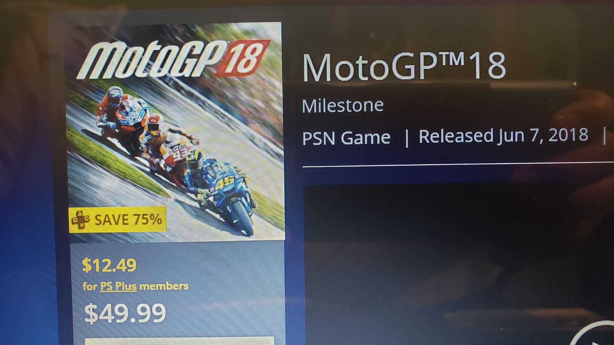 Playstation Store: MotoGP 18 con Plus