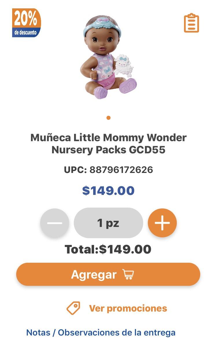 Chedraui: Muñeca litte mommy