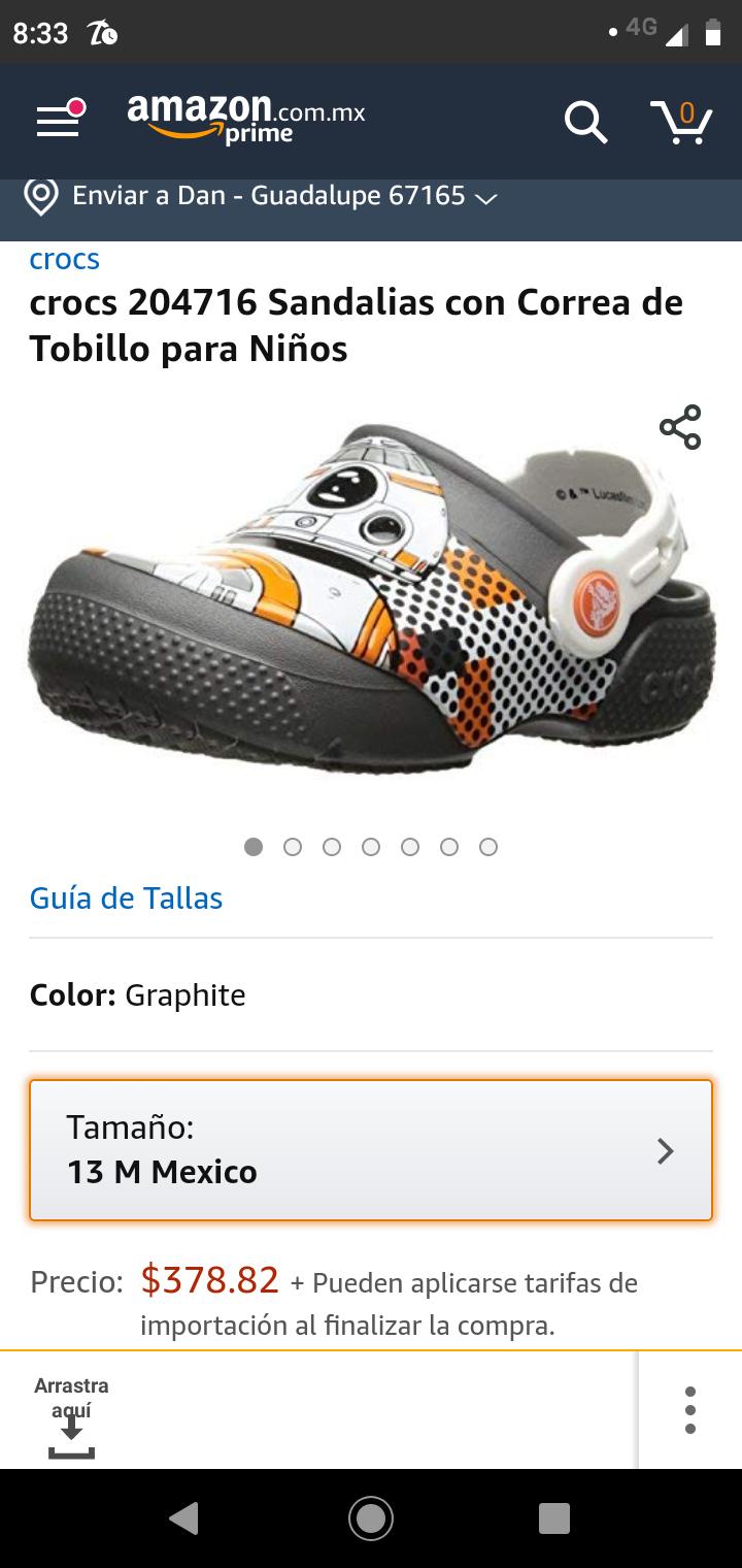 Amazon: Crocs Star wars para la bendi! BB8