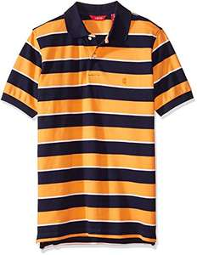 Amazon: Camisa Polo IZOD para Hombre, Color Naranja Talla Chica