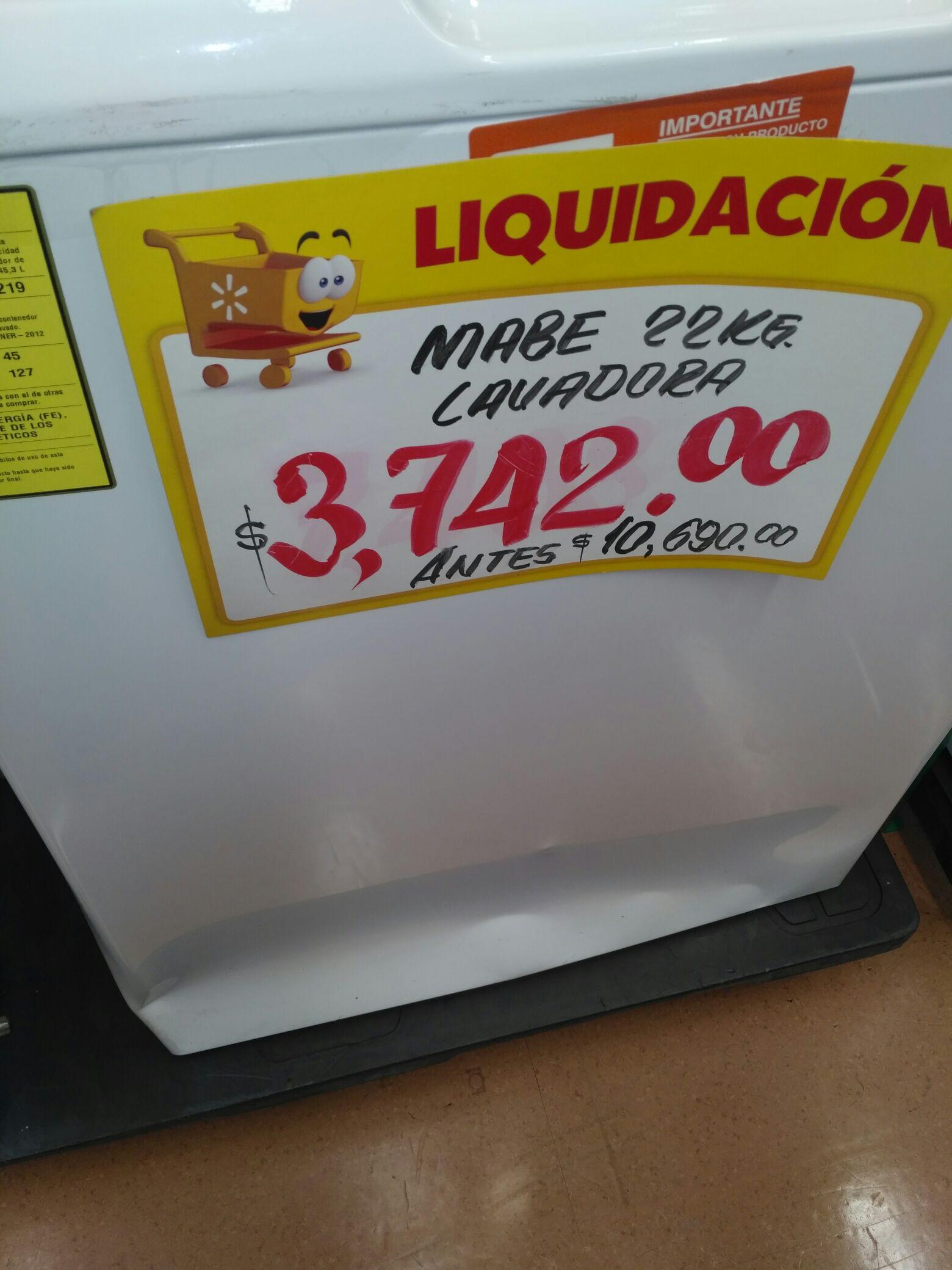 Walmart: Lavadora Mabe en 3742