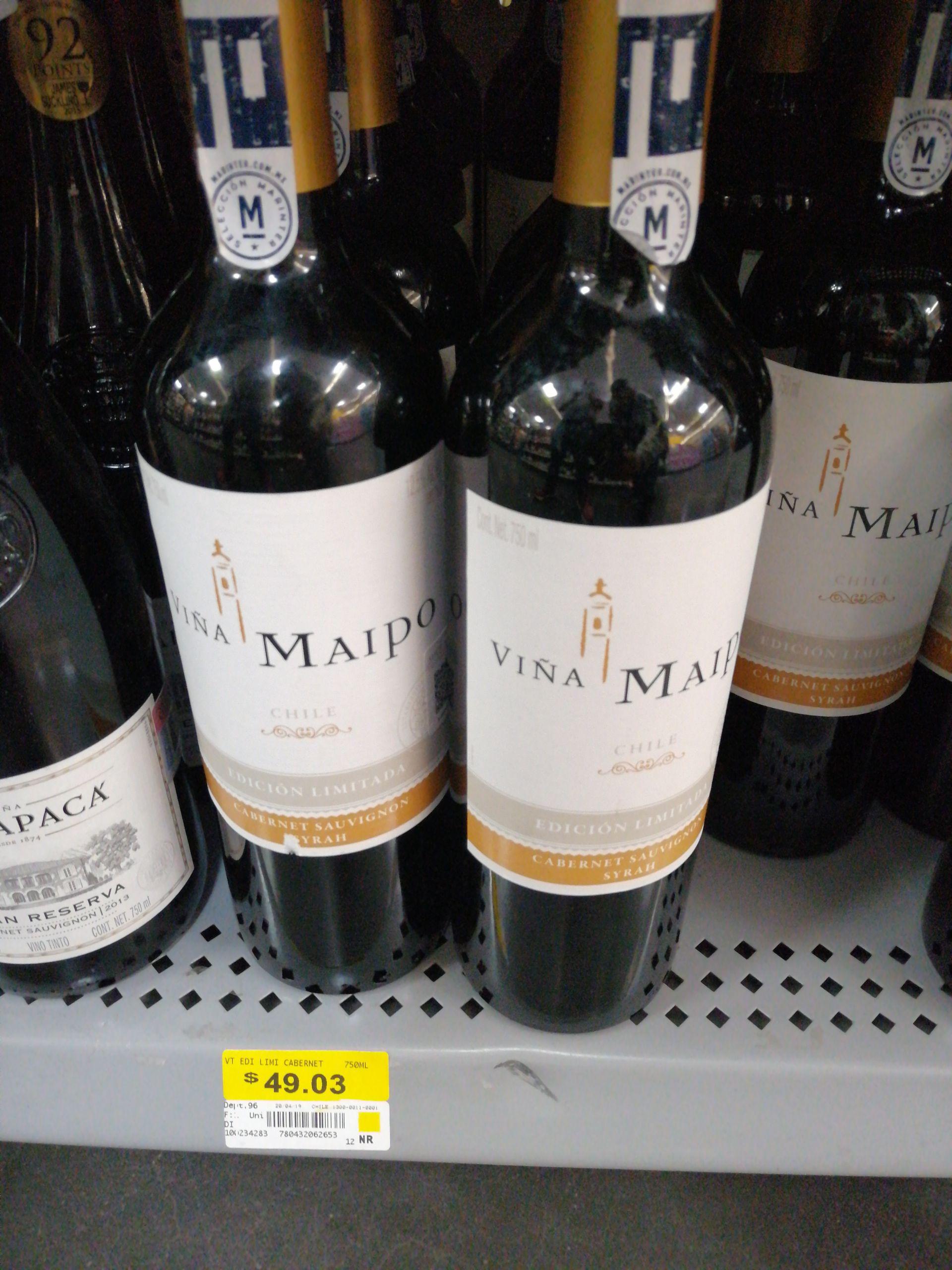 Walmart colinas Zacatecas vino cabernet