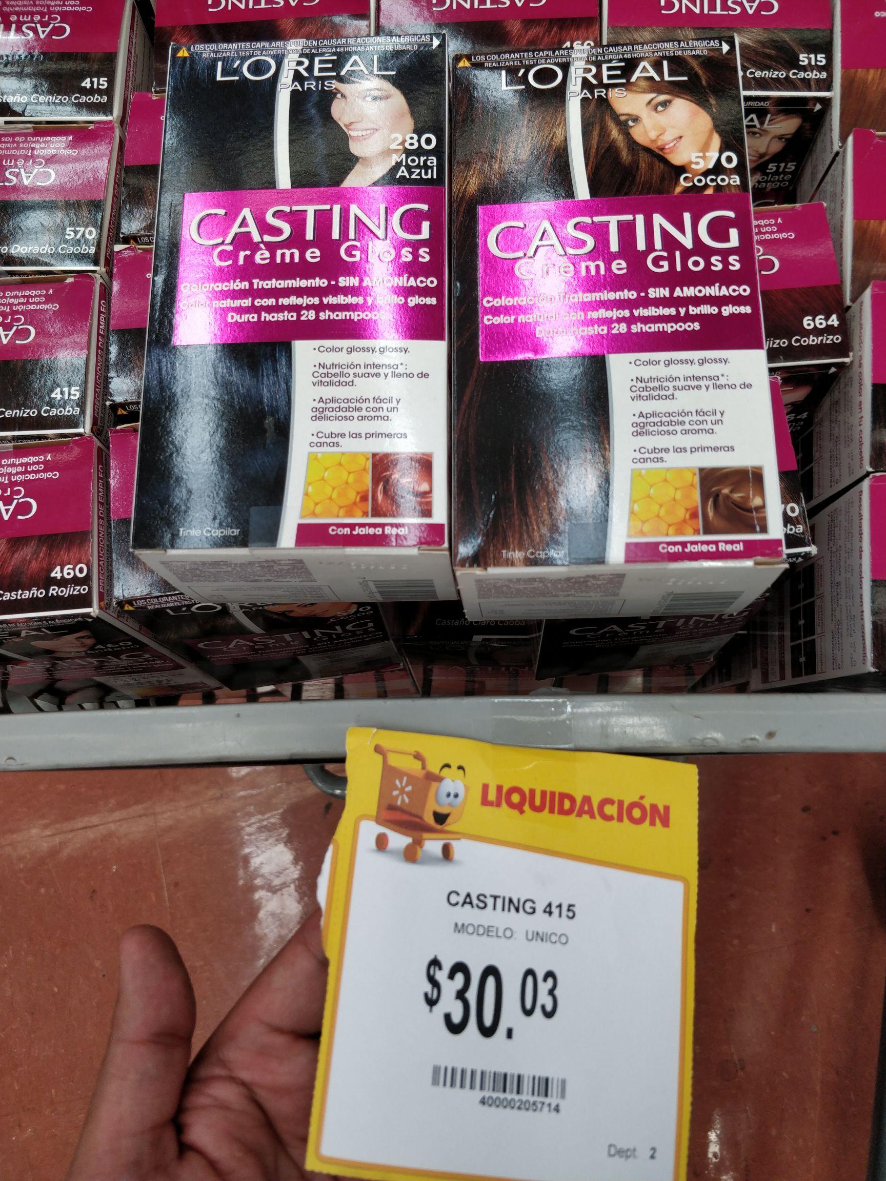 Walmart 3 Ríos: Tinte L'oreal Casting en varios tonos.