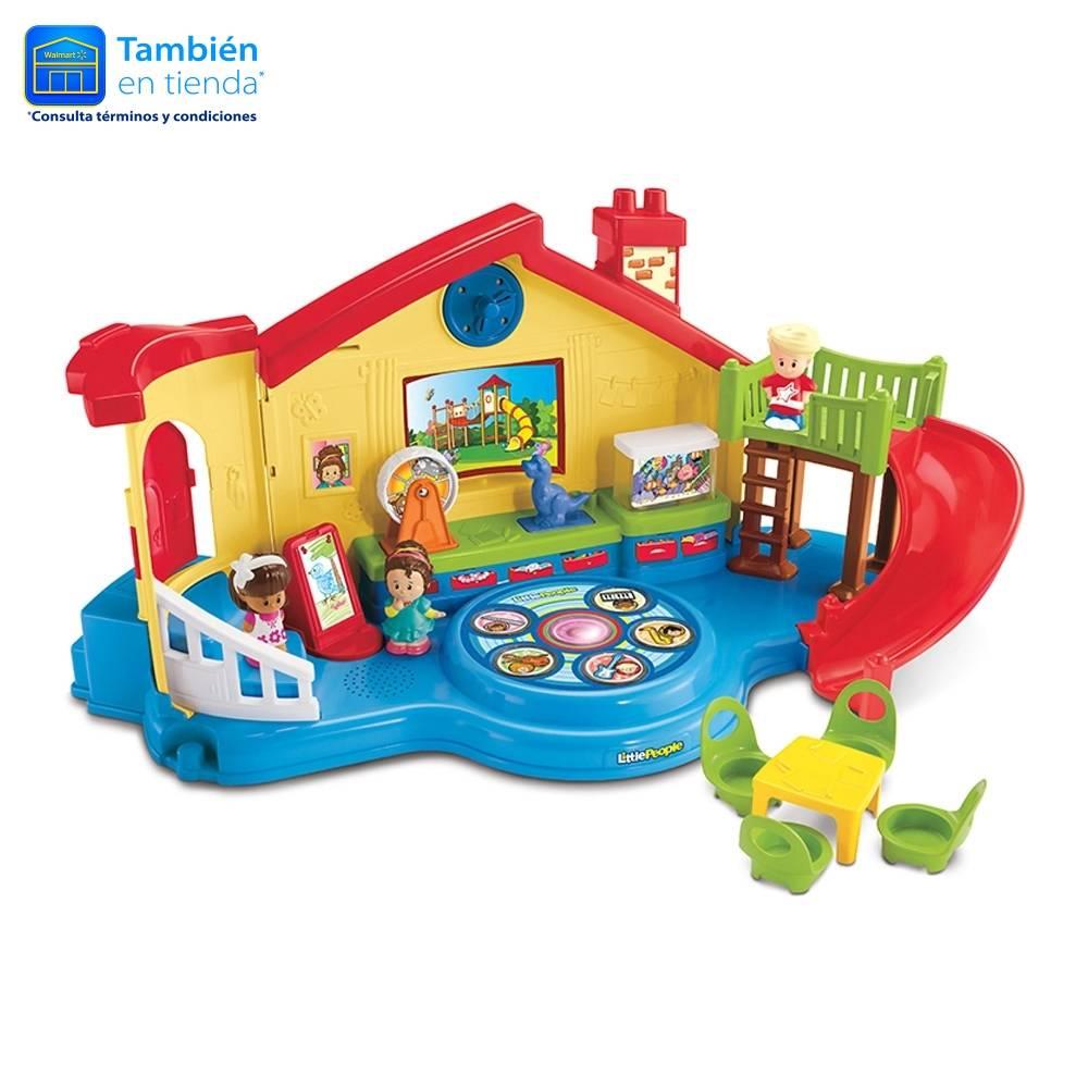 Walmart Online: Escuelita Musical, Castillo Un Día Disney Little People Mattel y juego de contenedores