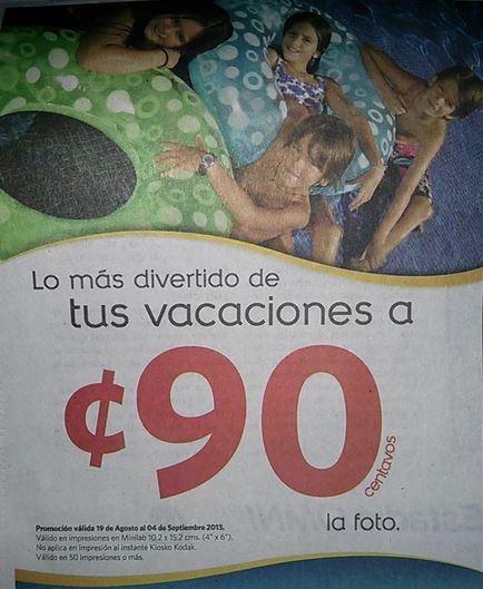 Farmacias Guadalajara: impresión de foto a 90 centavos