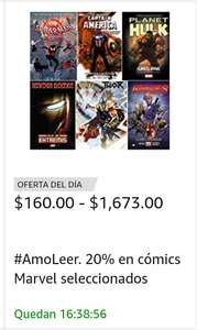 Amazon: 20% en cómics Marvel!