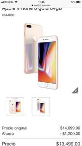 iPhone 8 Dorado 64GB en Costco
