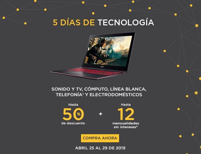 Palacio de Hierro: Hasta 50% Descuento +12MSI 5 Días de Tecnología en Sonido, Tv, Cómputo, Línea Blanca, Telefonía y Electrodomésticos