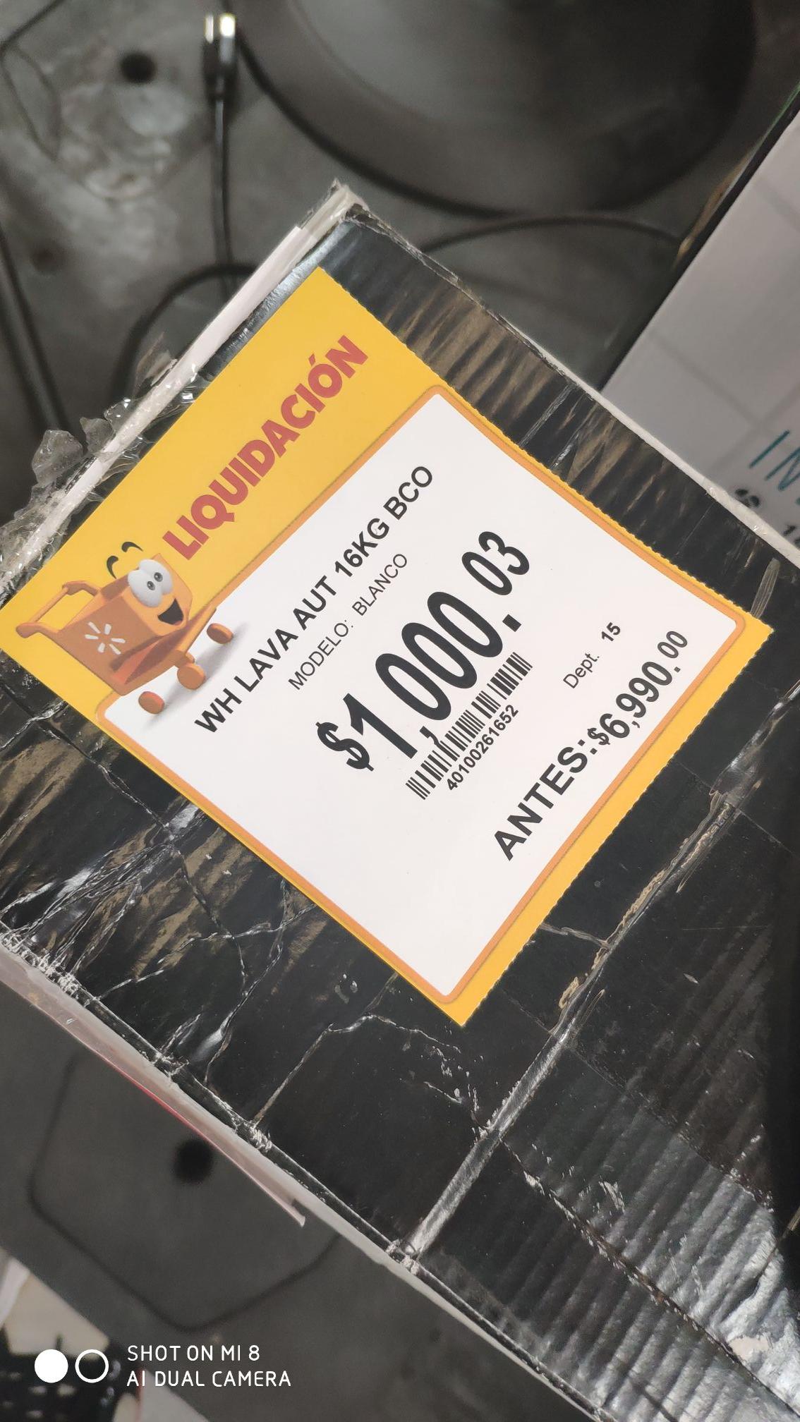 Walmart: Lavadora Whirlpool 16 kilos