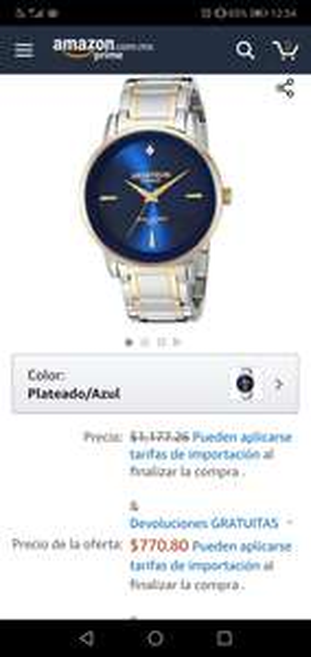 Amazon EEUU: Reloj armitron con diamante