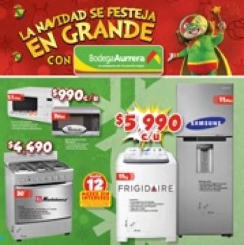 """Folleto Navideño Bodega Aurrerá, Ejemplo: Pantalla Hisense 32"""" $3540, Tablet Acer 7"""" $990"""
