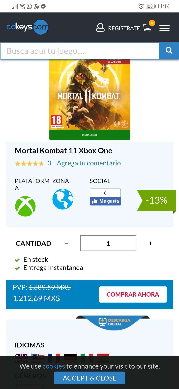 cdkeys: Mortal Kombat 11 Xbox