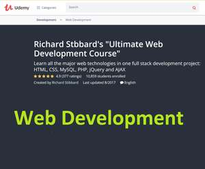 Udemy - Web Dev por Richard Stibbard / GRATIS
