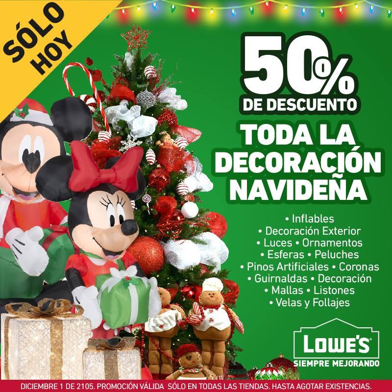 LOWE'S: 50% de descuento en decoración navideña
