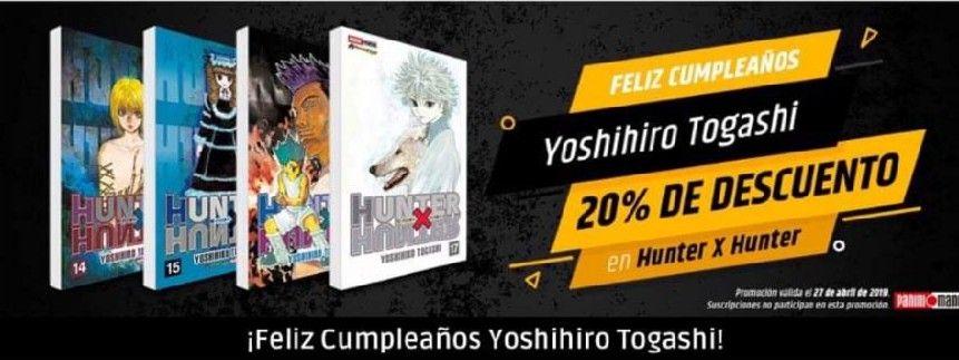 Panini Manga: 20% de descuento en Hunter X Hunter
