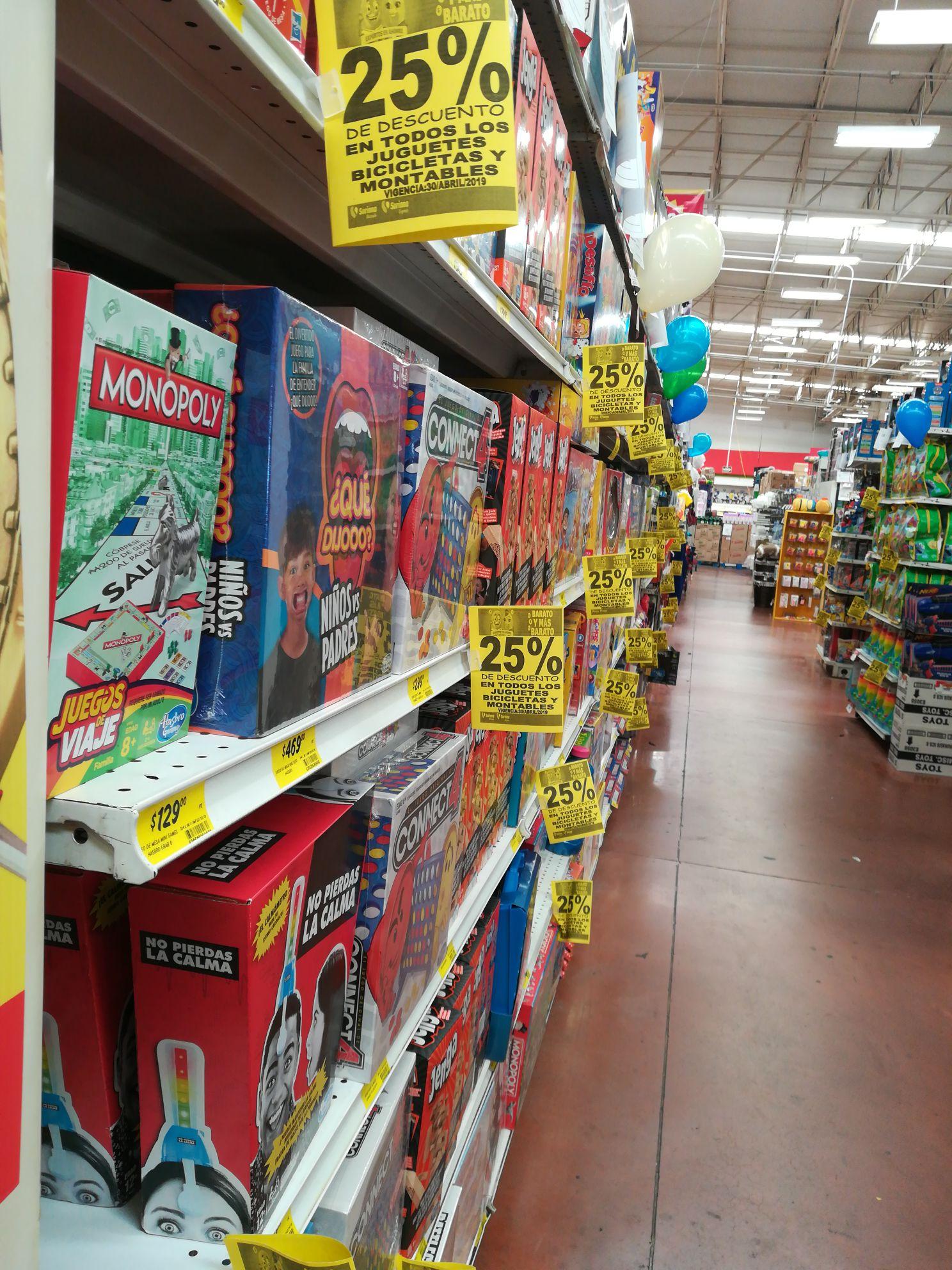 Soriana 25% de descuento en toso los juguetes y bicicletas montables