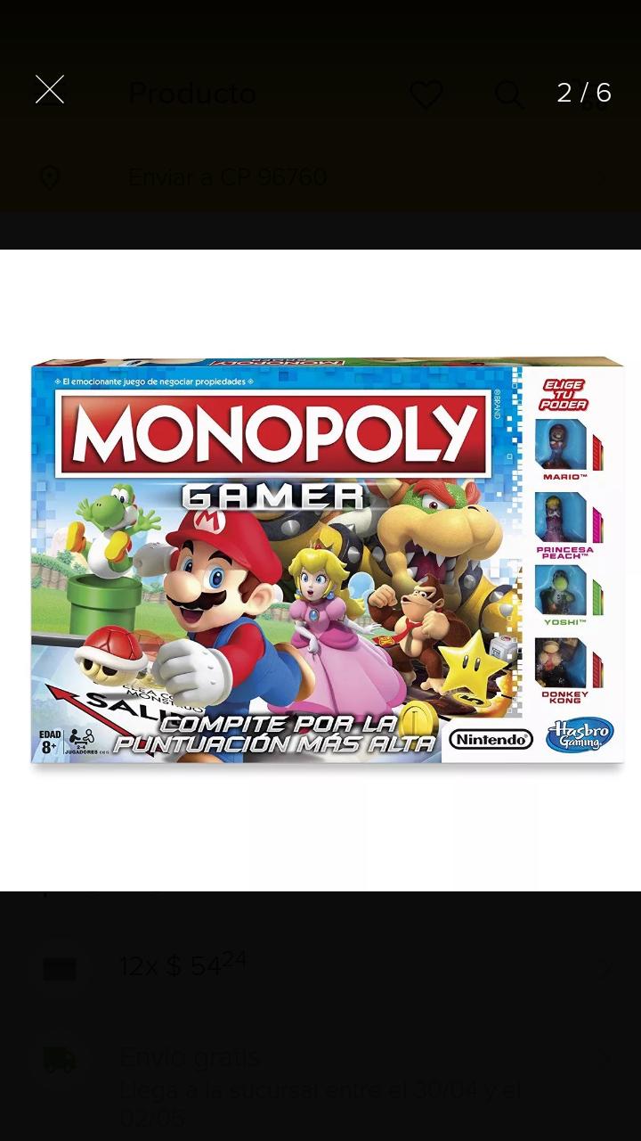 Soriana mercado: Monopoly Gamer Mario