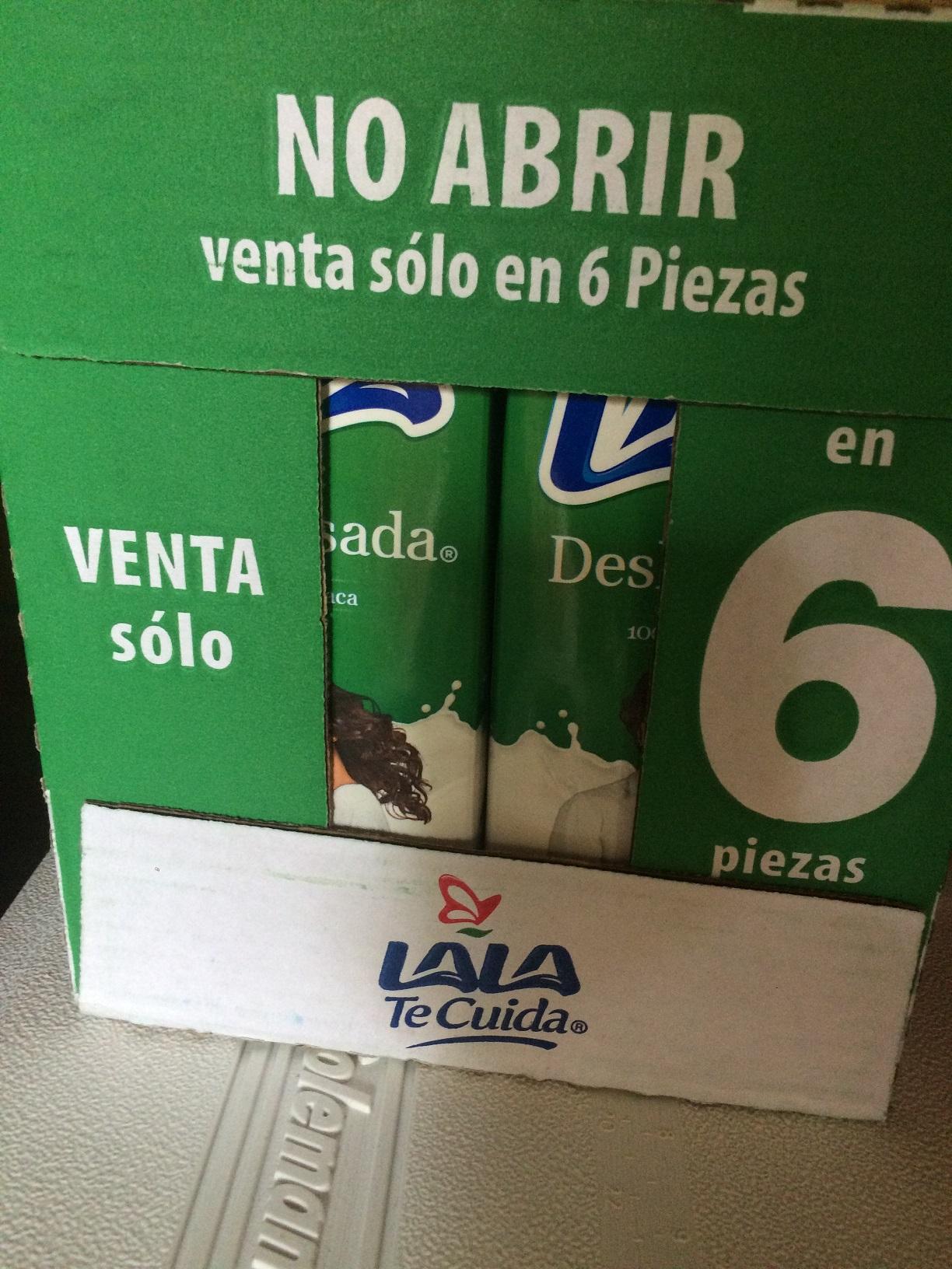 Bodega Aurrera: Leche LALA deslactosada 6 litros x $95