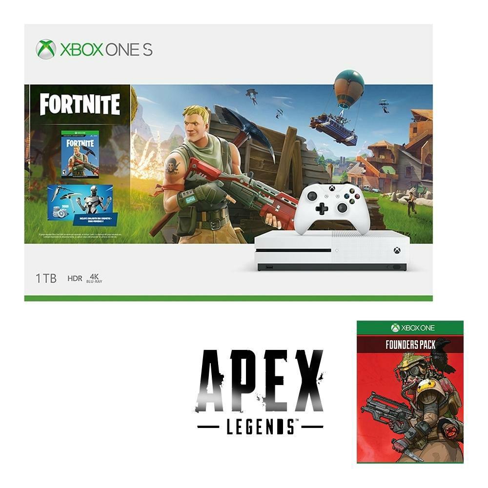 Walmart:Consola Xbox One S 1TB Fortnite más Pack de Fundador de Apex Legends