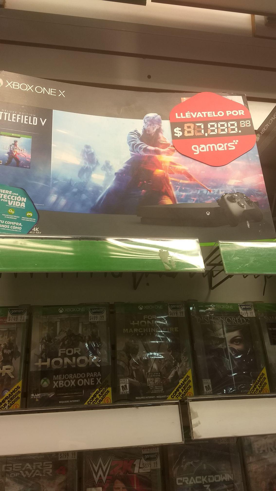 Gamers: Xbox One X con Battlefield V.