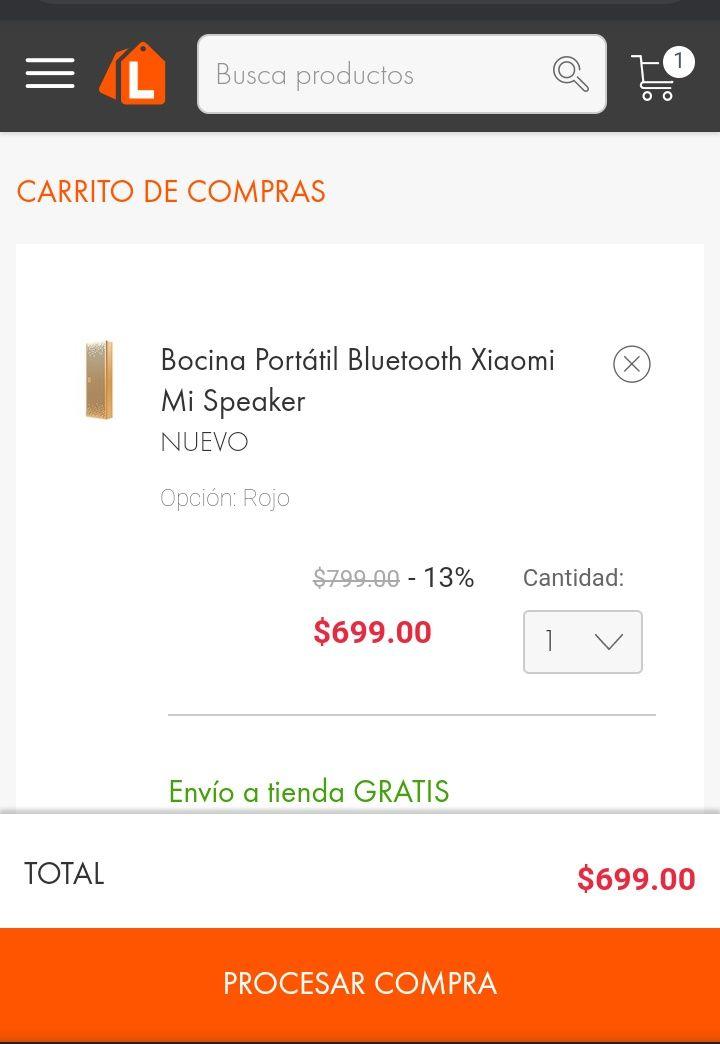 Linio: Bocina Portátil Bluetooth Xiaomi Mi Speaker