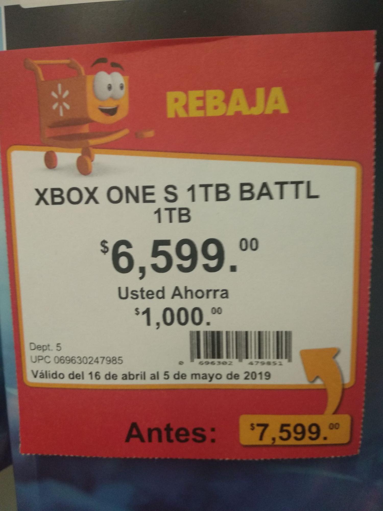 Walmart tijera GDL: Xbox one s 1 TB Division 2 o battlefield