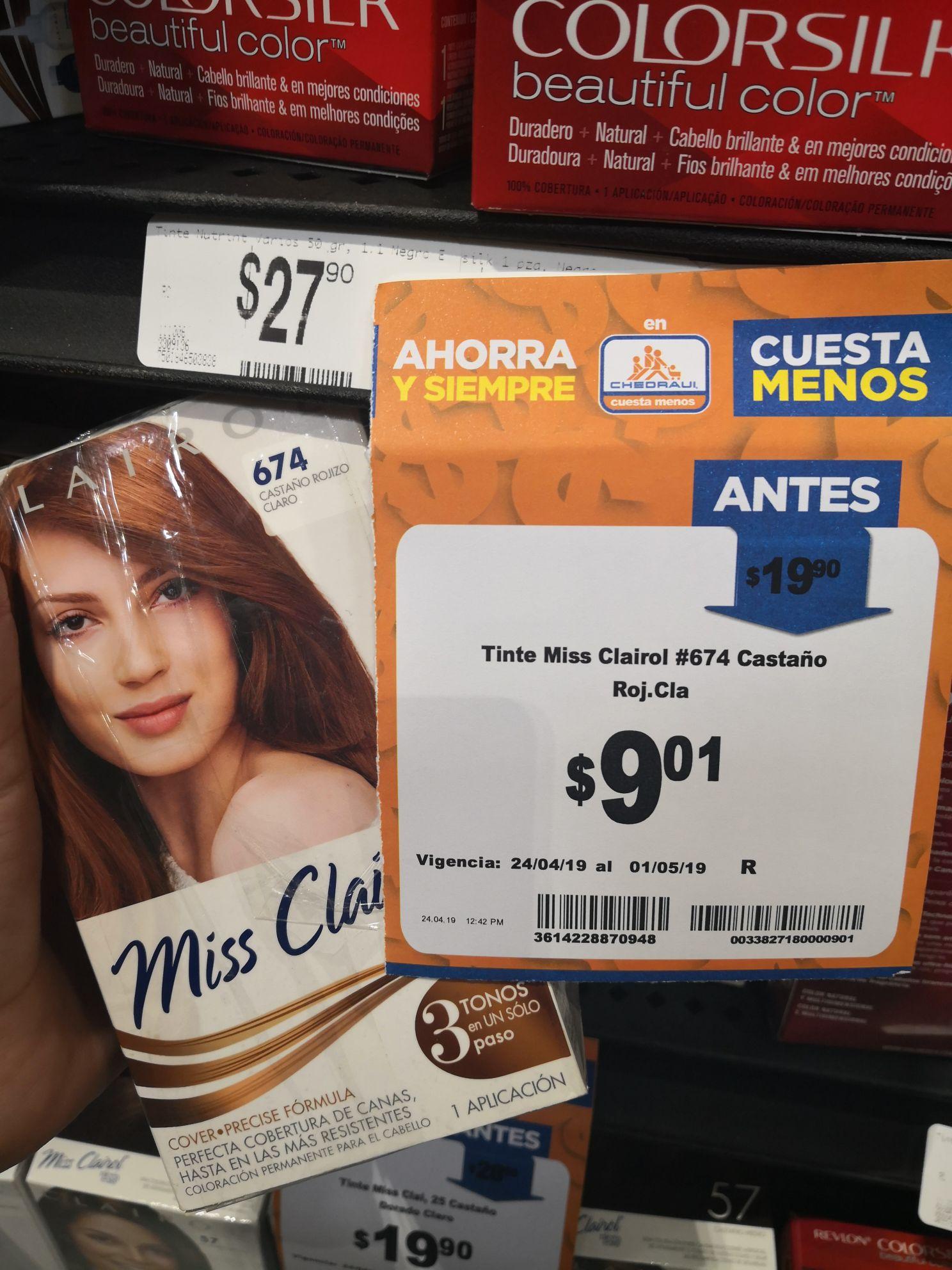 Chedraui: Tinte Miss Clairol
