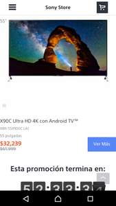 Sony Store: pantalla X90C Ultra HD 4K Triluminus con Android TV a $32,239