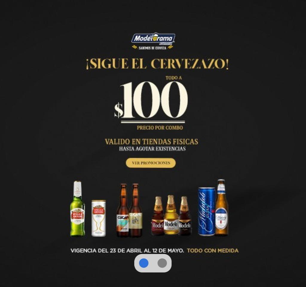 Modelorama : 8 cervezas premium x $100