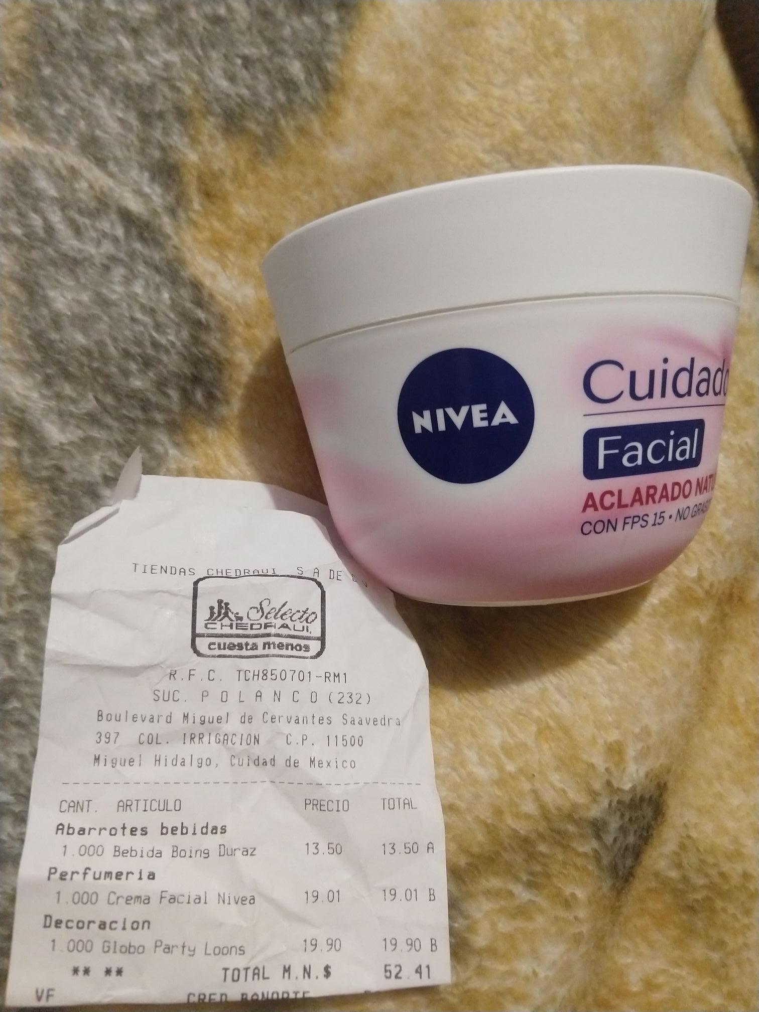 Chedraui: Crema Nivea Cuidado Facial