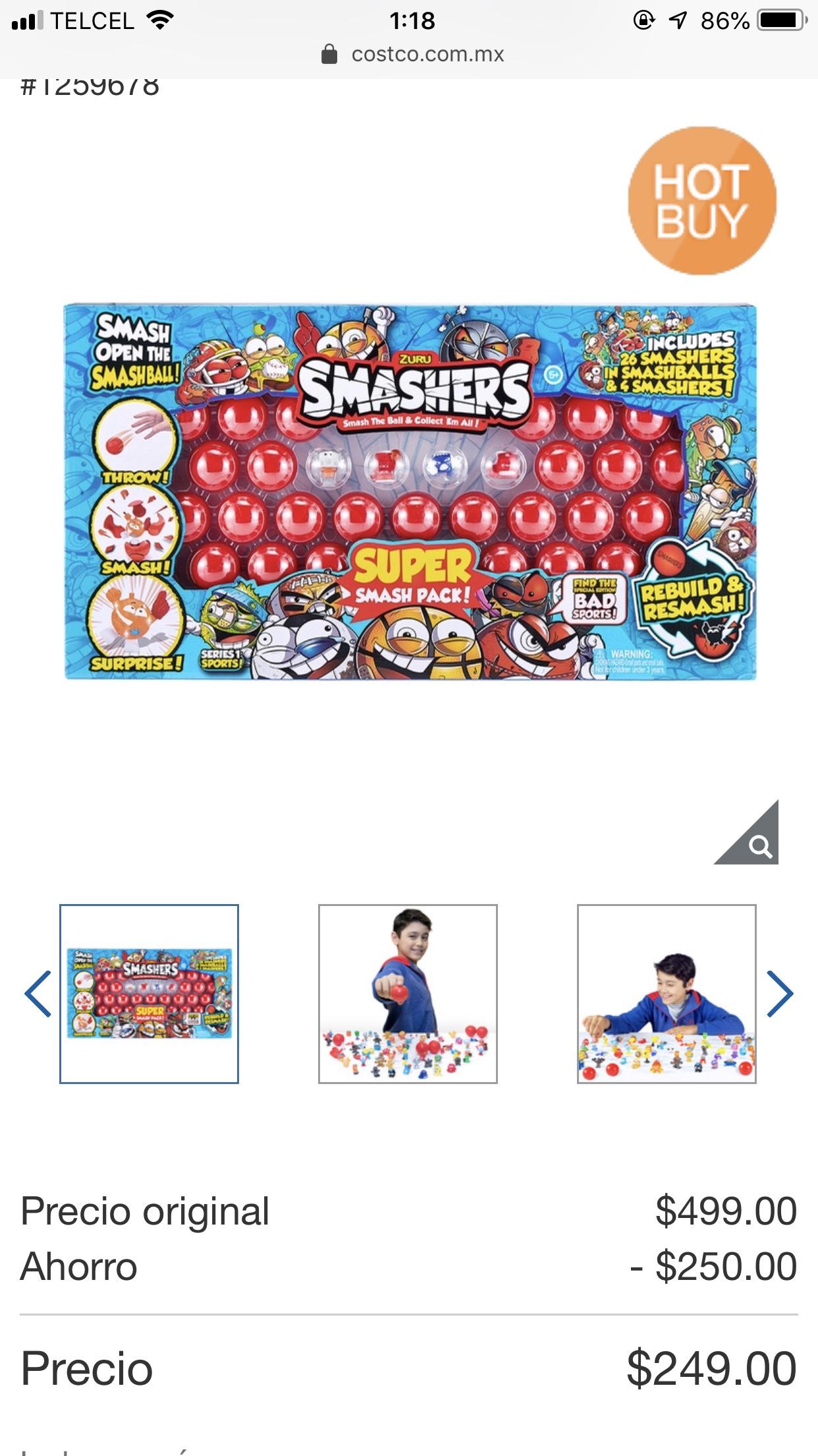 Costco en línea: Zuru, Smashers 30 piezas