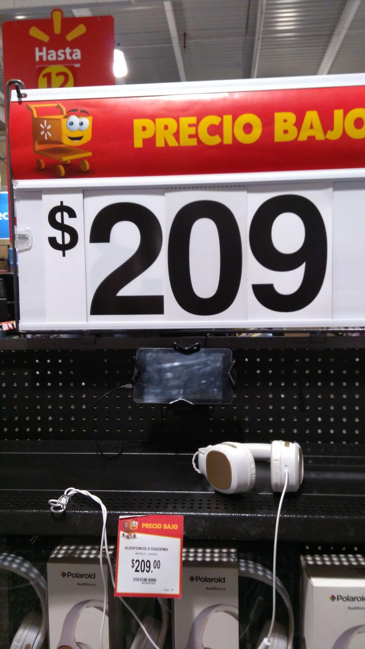 Walmart: Audífonos Polaroid de diadema