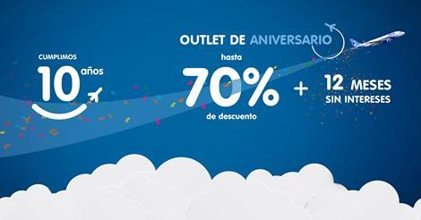 Interjet: ofertas de 10 aniversario hasta 70% de descuento