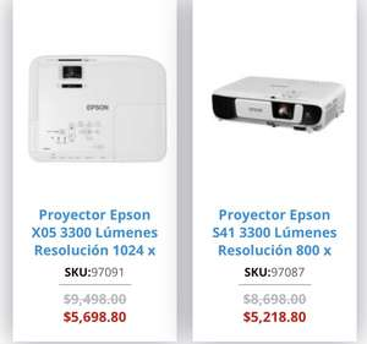 Officemax en Linea: Proyectores Epson con 40% de Descuento