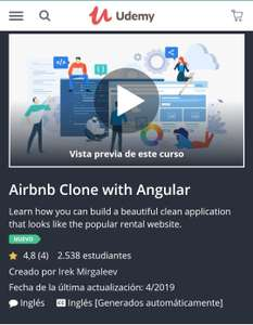 Udemy: Airbnb Clone with Angular / Gratis