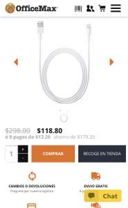 Office Max: Cable lightning 1 mt